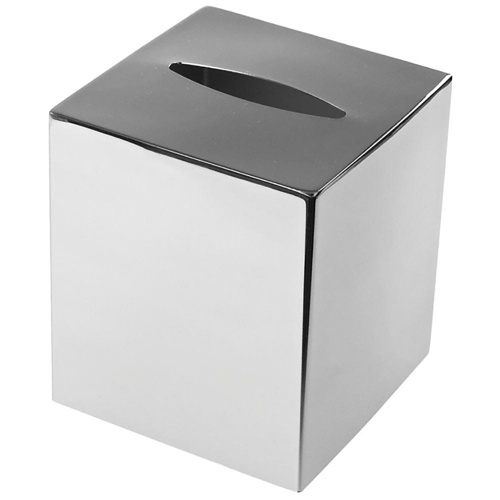 Nemesia Tissue Box Cover in Chrome