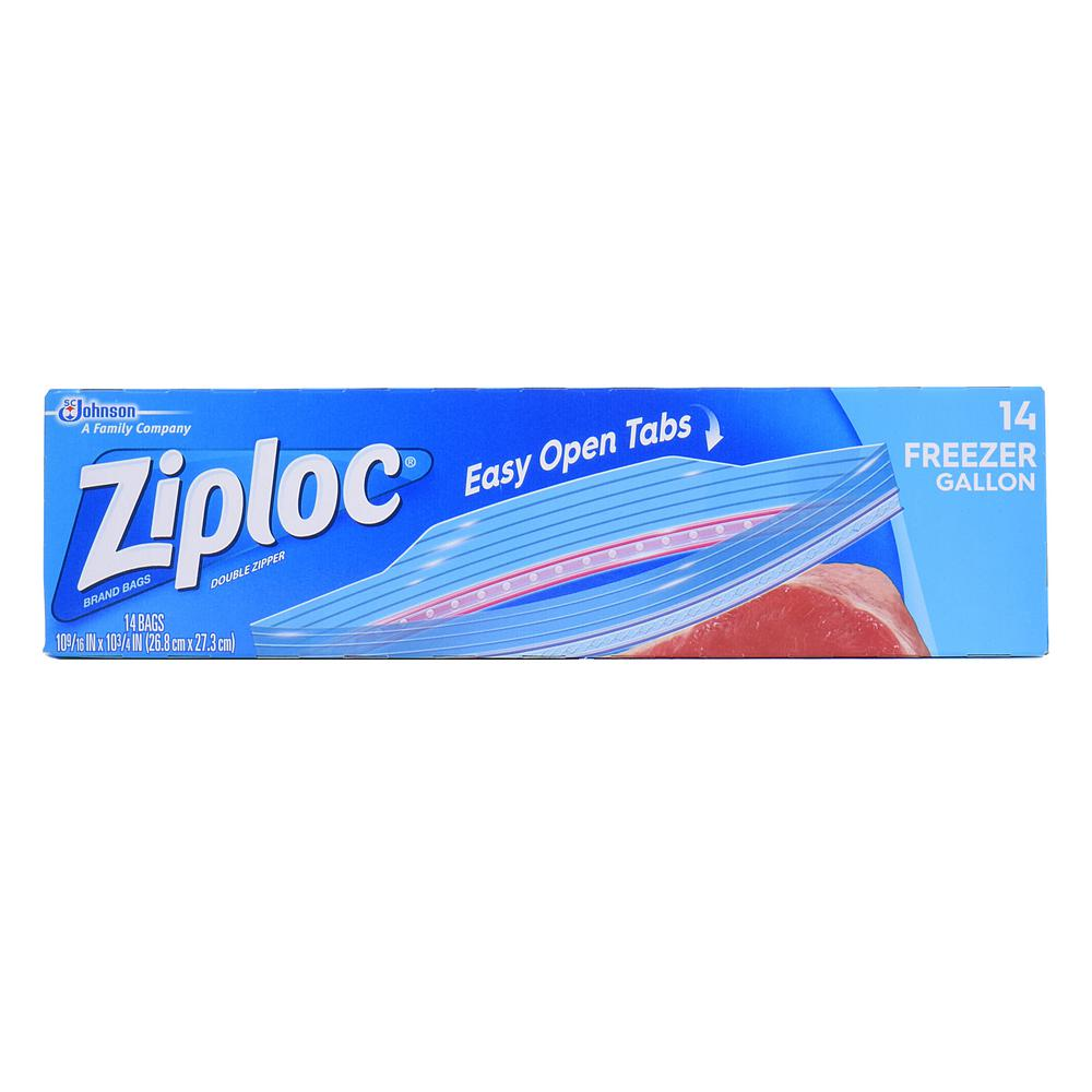 Ziploc Gallon Plastic Freezer Bag 14 12 Pack
