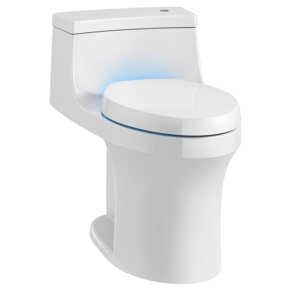 Kohler San Souci 1 Piece 28 Gpf Single Flush Elongated Toilet In White Seat