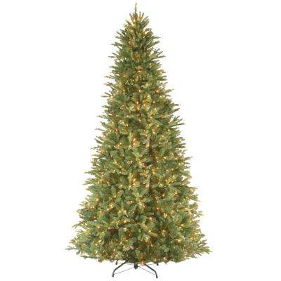 12 ft. Feel Real Tiffany Fir Slim Hinged Artificial Christmas Tree with 1200 Clear Lights