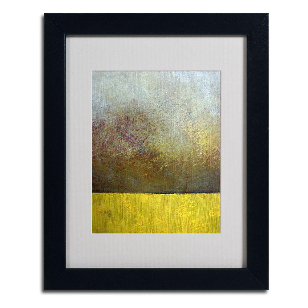 null 11 in. x 14 in. Earth Study II Matted Framed Art