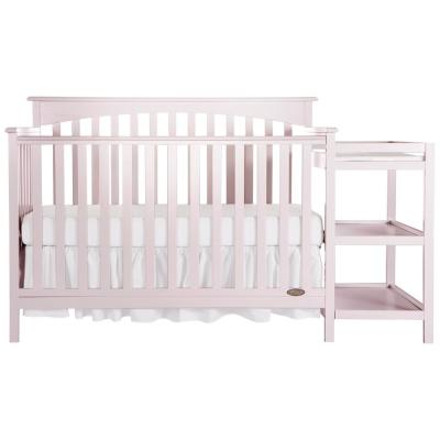 Chloe 5-in-1 Blush Pink Convertible Crib with Changer
