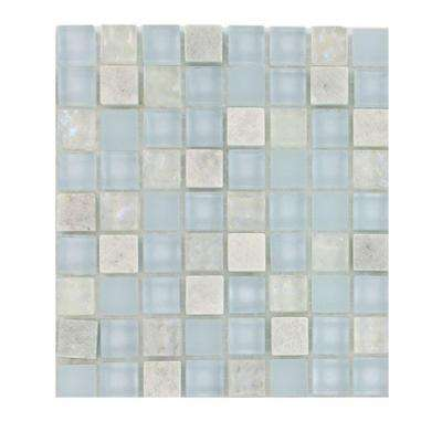Mist Trail Blend Marble Glass Mosaic Floor and Wall Tile - 3 in. x 6 in. x 8 mm Tile Sample