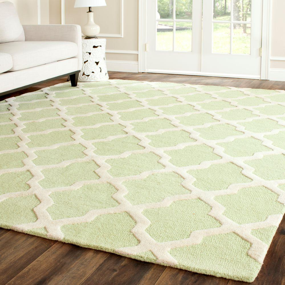 Cambridge Light Green/Ivory 10 ft. x 14 ft. Area Rug