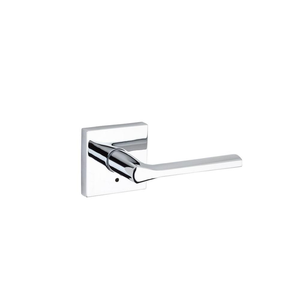 Lisbon Polished Chrome Square Privacy Bed/Bath Door Lever