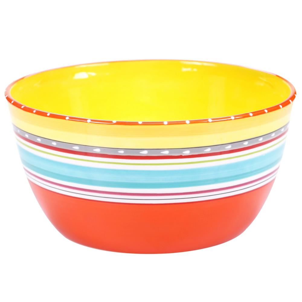 Mariachi 10.75 in. x 5.5 in. Large Serving Bowl in Multi-Colored