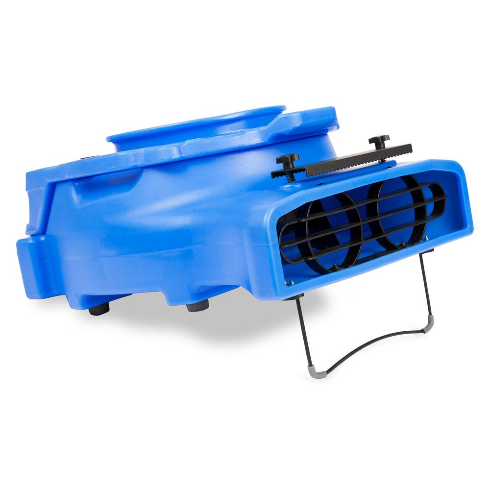 1/4 HP Low Profile Blue Air Mover Blower Fan for Water