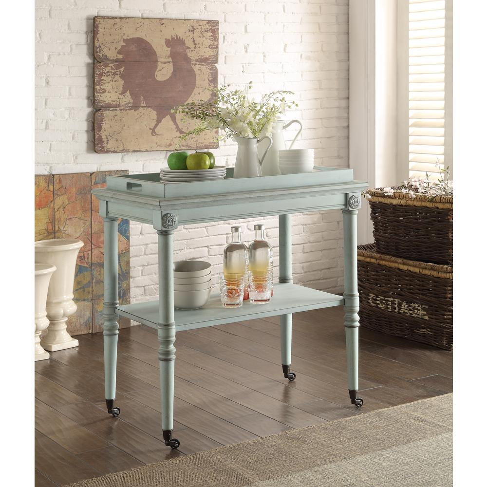 ACME Furniture Frisco Tray Table in Antique Green - ACME Furniture Frisco Tray Table In Antique Green-82907 - The Home Depot