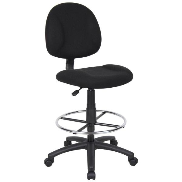 Boss Black Armless Drafting Stool B1615-BK