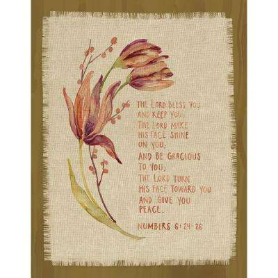 "GraceLaced for Carpentree ""The Lord bless you and keep you.  Numbers 6:24-26"" Printed Fringe Canvas on Wood Plaque"