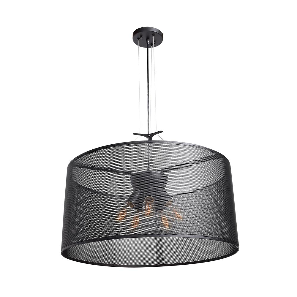 Access Lighting Epic 12 in. H 5-Light Black Pendant