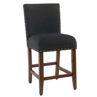 Dinah 24 in. Red and Gold Damask Bar Stool