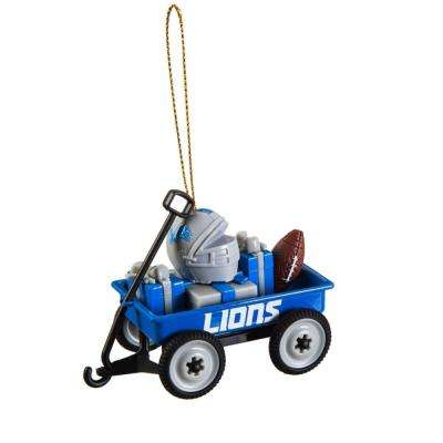 Detroit Lions 1-3/4 in. NFL Team Wagon Christmas Ornament