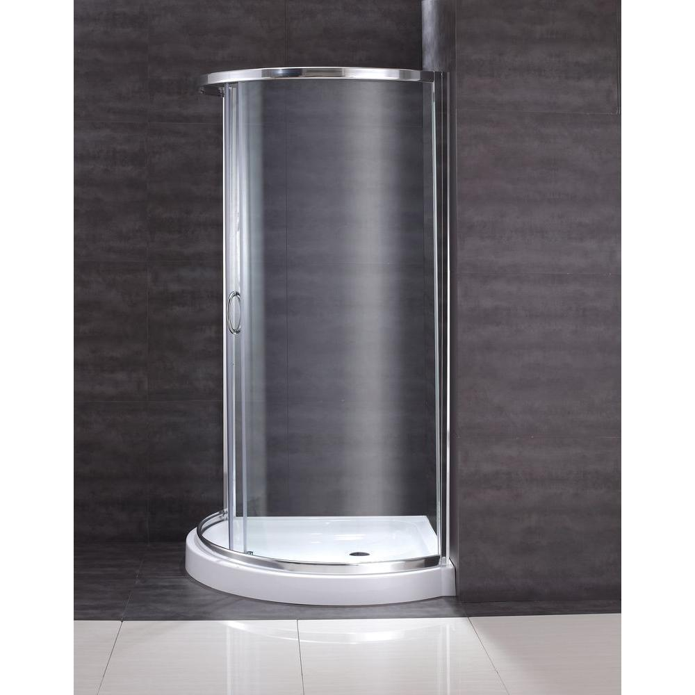 OVE Decors Breeze 36 in. x 36 in. x 76 in. Shower Kit with ...