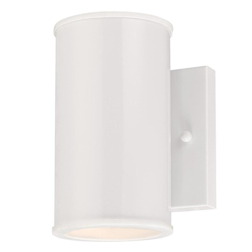 Mayslick 1-Light White Integrated LED Outdoor Wall Lantern Sconce