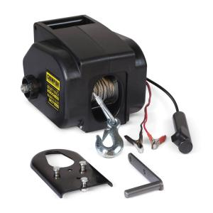 Max Load 12,000 lb  Capacity 12-Volt Electric Recovery Winch