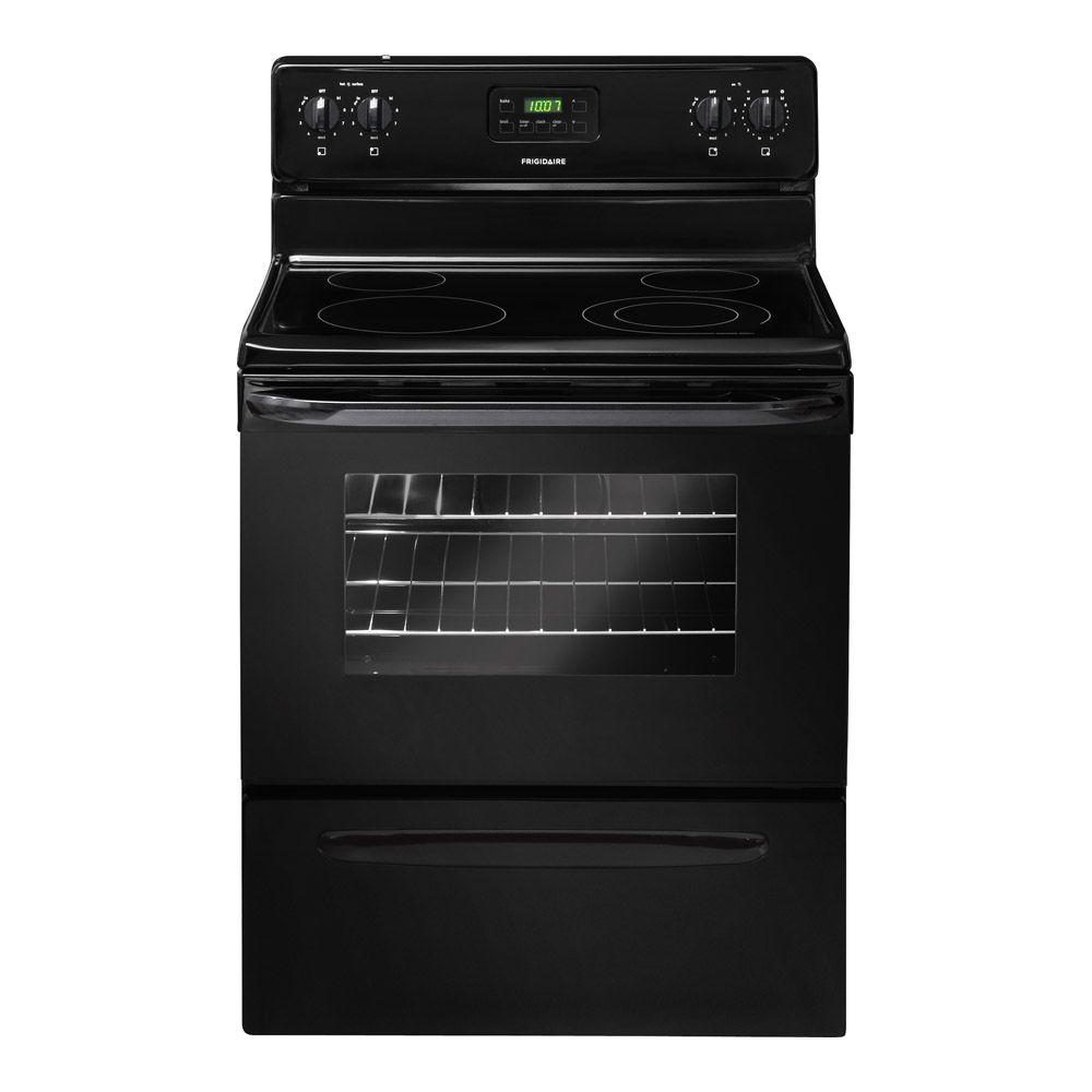 Frigidaire 30 in. 4.8 cu. ft. Electric Smooth Surface Range in Black