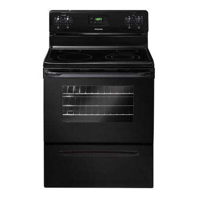 30 in. 4.8 cu. ft. Electric Smooth Surface Range in Black