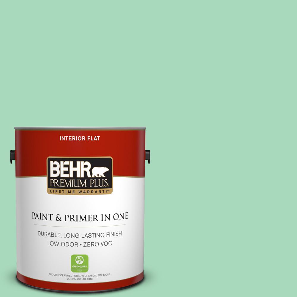BEHR Premium Plus 1-gal. #P410-3 Shanghai Jade Flat Interior Paint