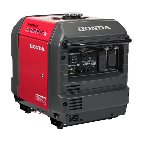 3000-Watt Electric and Recoil Start Gasoline Powered Inverter Generator with 30 Amp Outlet