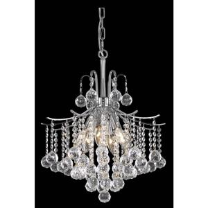 Timeless Home Abby 17 in. W x 20 in. H 6-Light Chrome Pendant