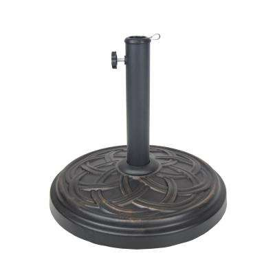 Cast Concrete Patio Umbrella Base in Black