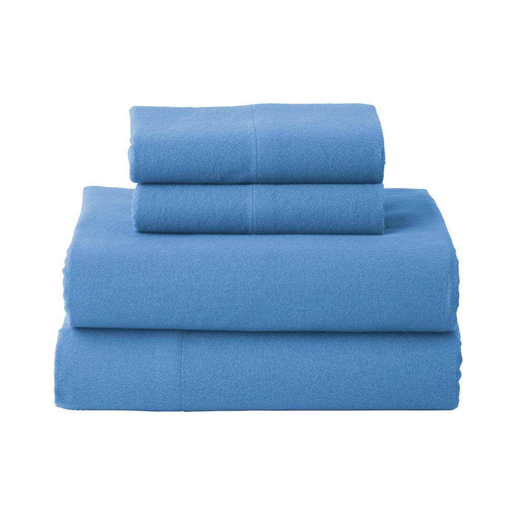 Solid Flannel Sheet Set