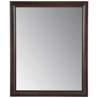 Candlesby 25.67 in. x 31.38 in. Framed Wall Mirror in Pewter