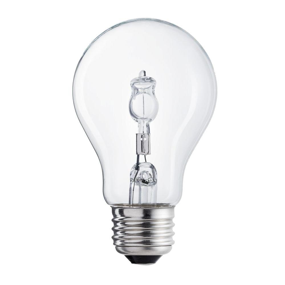EcoSmart 40-Watt Equivalent Incandescent A19 Clear Light Bulb (2-Pack)