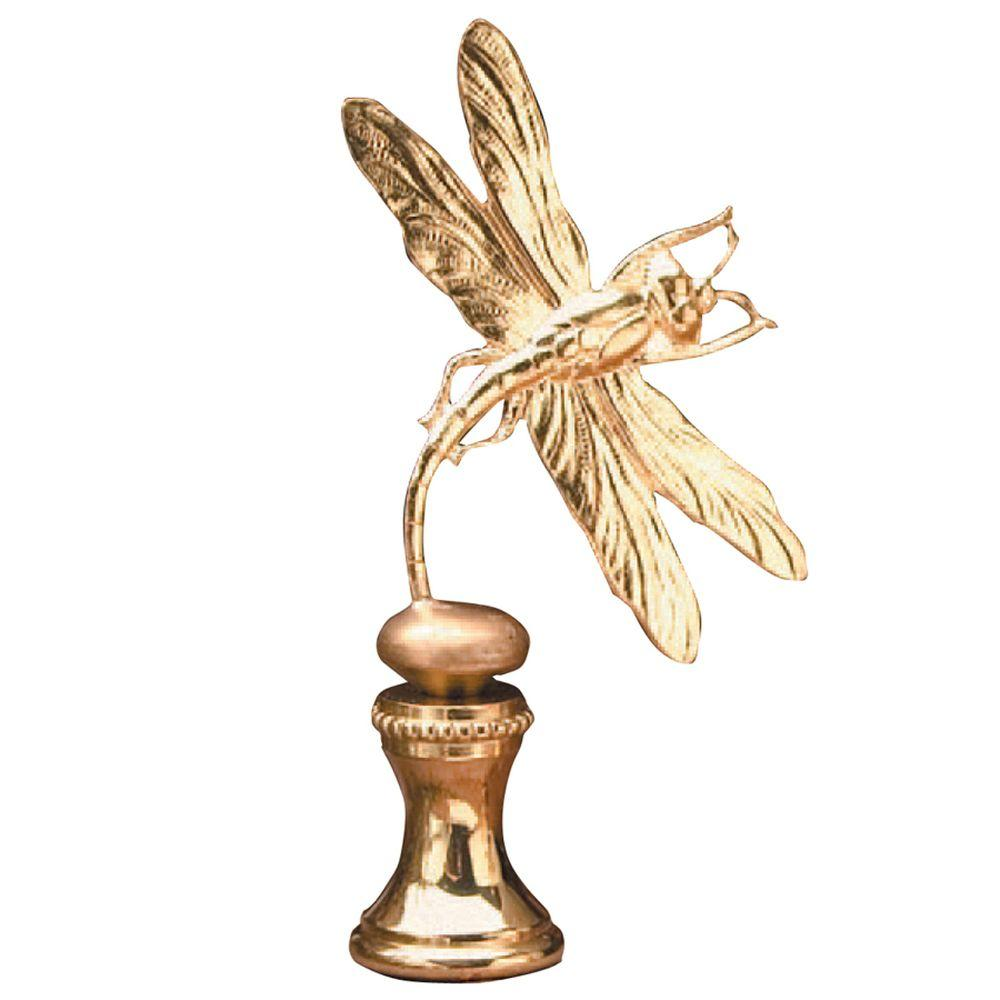 Mario Industries Polished Brass Dragonfly Lamp Finial-DISCONTINUED