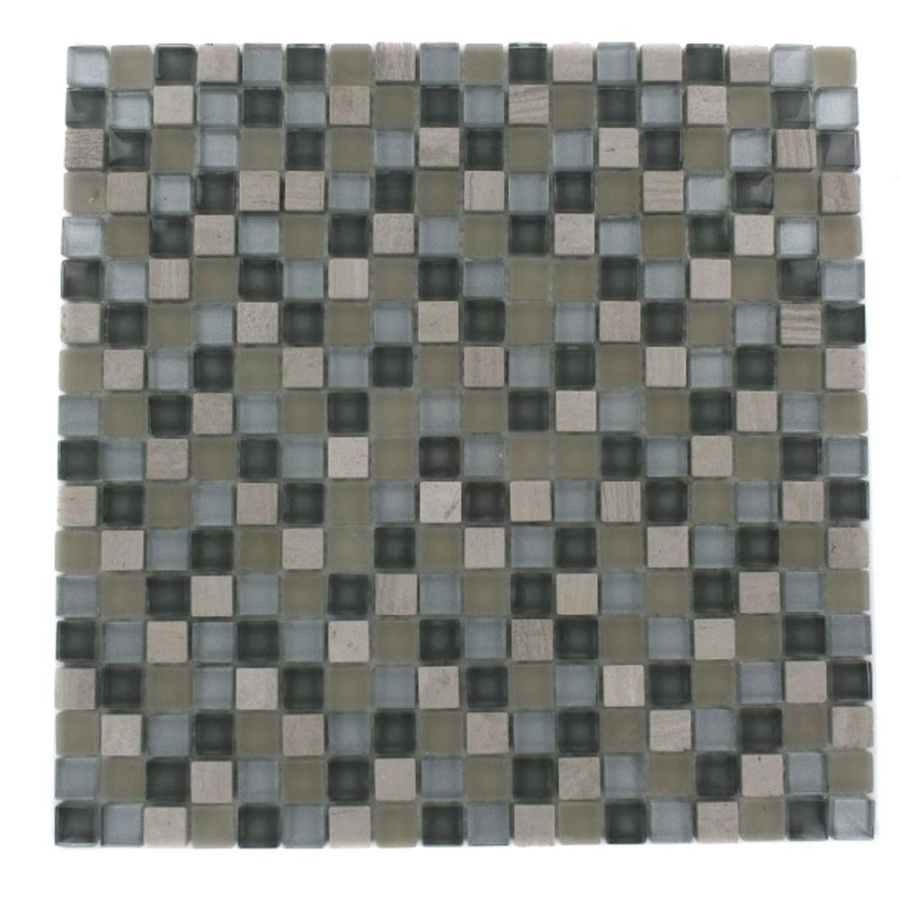 Naiad Blend Squares Pattern 12 in. x 12 in. x 8