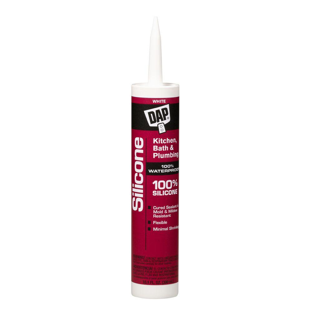 Silicone 10.1 oz. White Kitchen and Bath 100% Silicone Rubber Sealant