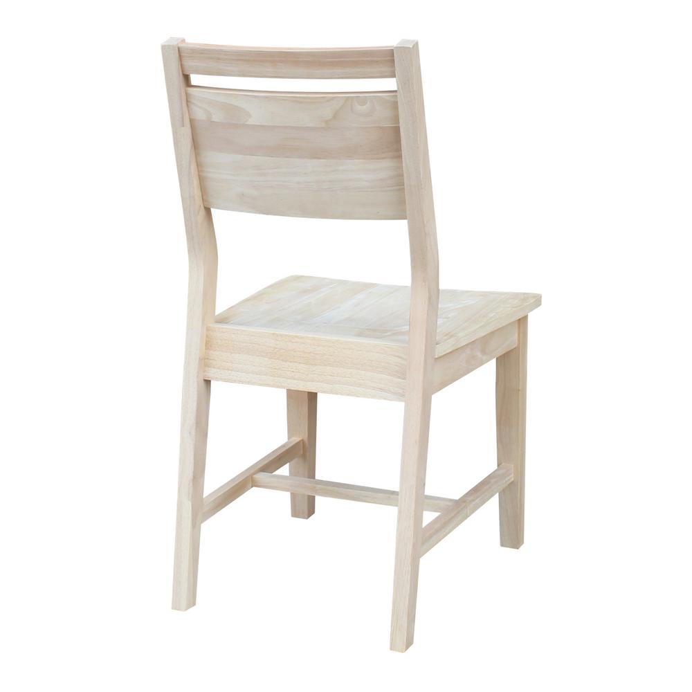 Amazing Mid Century Modern Panel Back Unfinished Dining Chair Set Of 2 Uwap Interior Chair Design Uwaporg