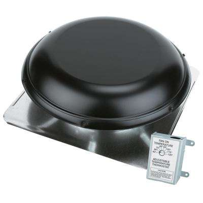 1170 CFM Black Power Roof Mount Attic Ventilator