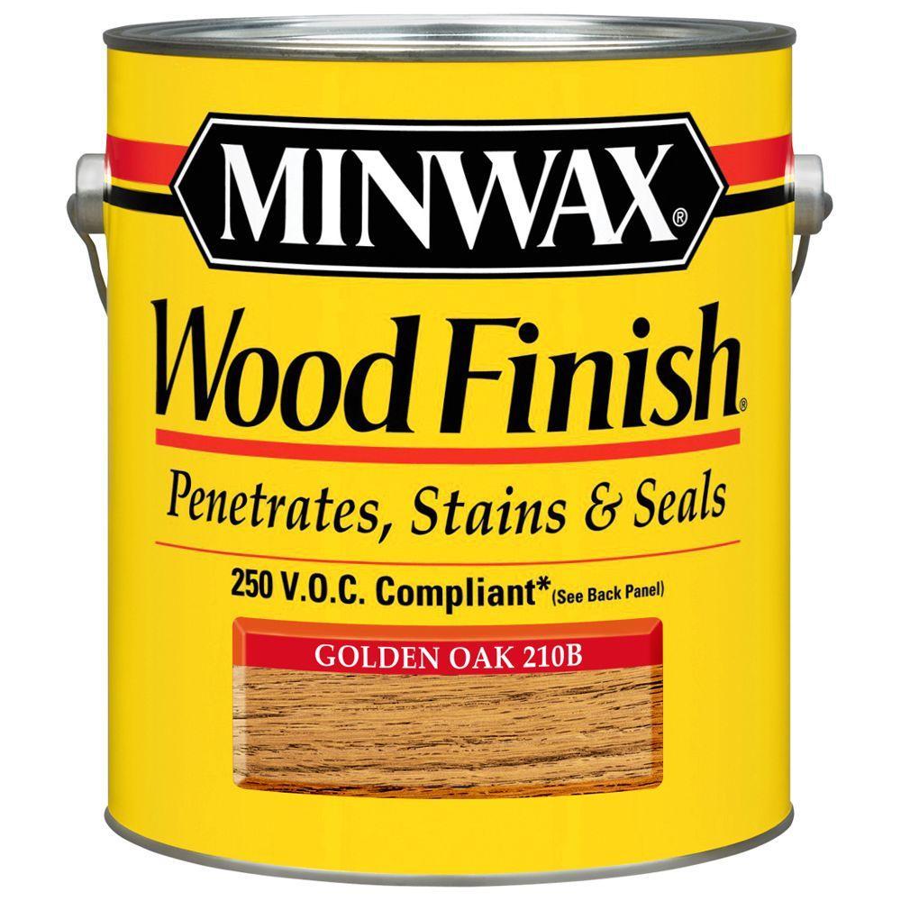 1 gal. Wood Finish Golden Oak Oil Based Interior Stain (2-Pack)