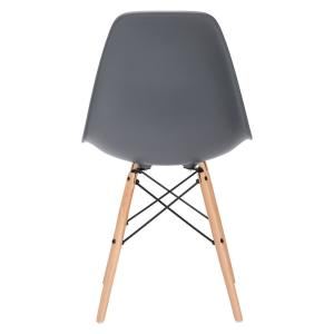 Astonishing Poly And Bark Vortex Grey Side Chair With Natural Legs Set Customarchery Wood Chair Design Ideas Customarcherynet