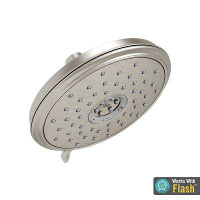 Spectra Plus 4-Spray 7.25 in. Round Water Saving Fixed Showerhead in Brushed Nickel