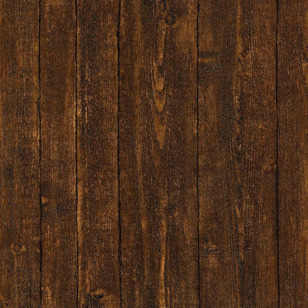 Brewster 8 in x 10 in ardennes brown wood panel wallpaper sample 412 56908sam the home depot - Dark wood wallpaper ...