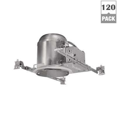 H7 6 in. Aluminum Recessed Lighting Housing for New Construction Ceiling, Insulation Contact, Air-Tite (120-Units)