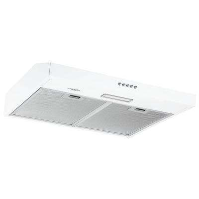 24 in. Convertible Under-Cabinet Range Hood in White Stainless Steel with LED Lights