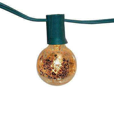 25 ft. 25-Light Gold Mercury Globe String Lights