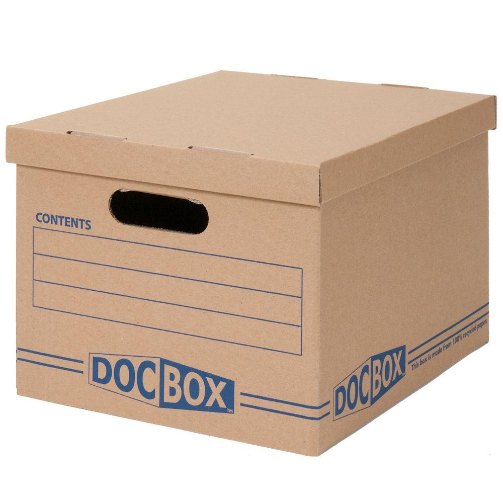 DOC-BOX 15 in. L x 12 in. W x 10 in. Document Storage Boxes (2-Pack)