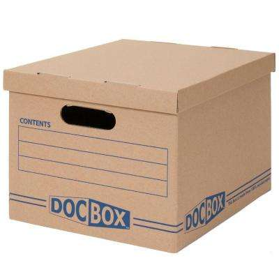 15 in. x 10 in. x 12 in. Document Storage Boxes (10-Pack)