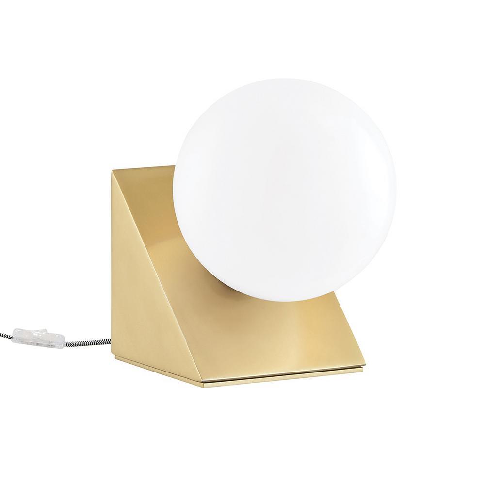 Aspyn 7.25 in. 1-Light Aged Brass Table Lamp
