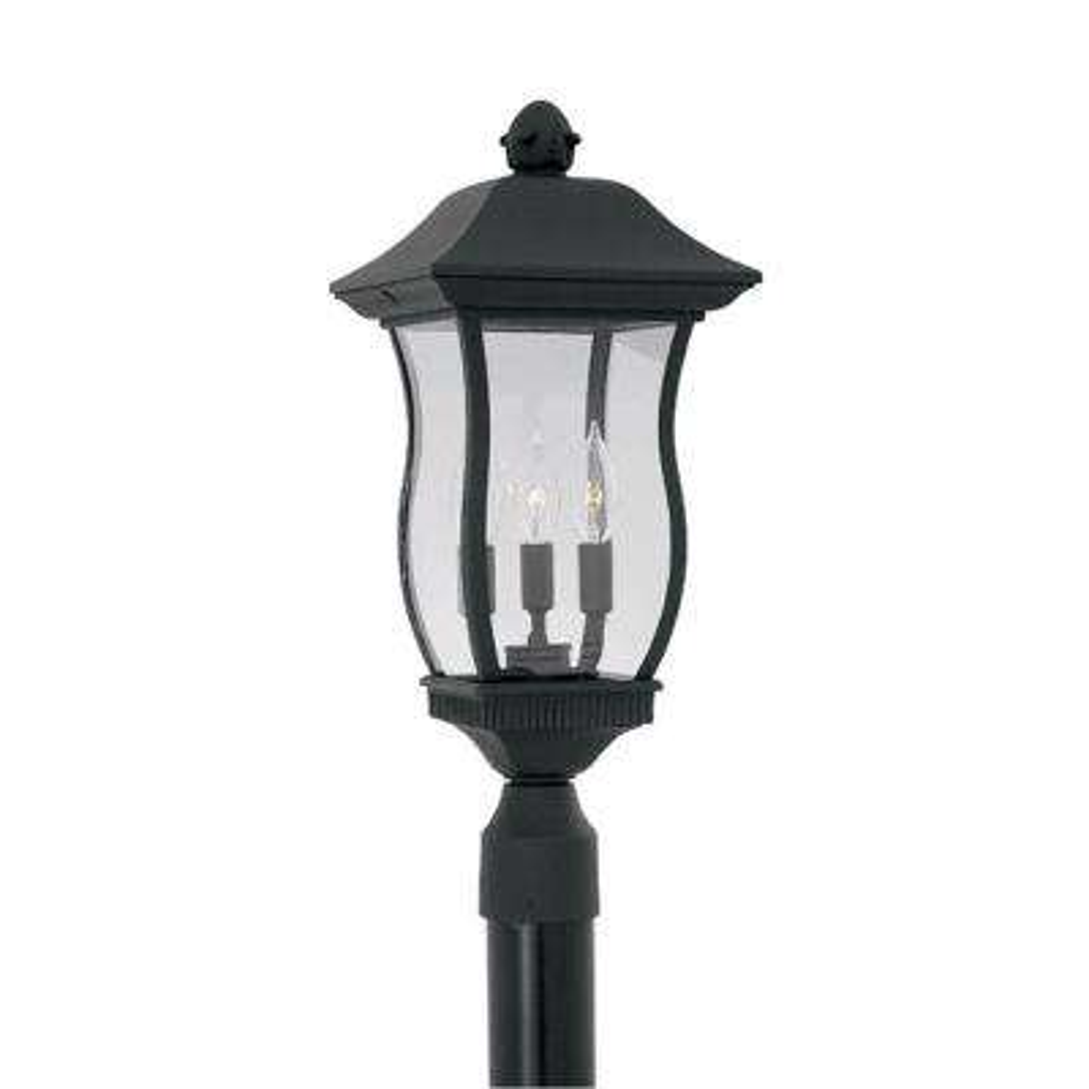 Chelsea 3-Light Outdoor Black Post Lantern