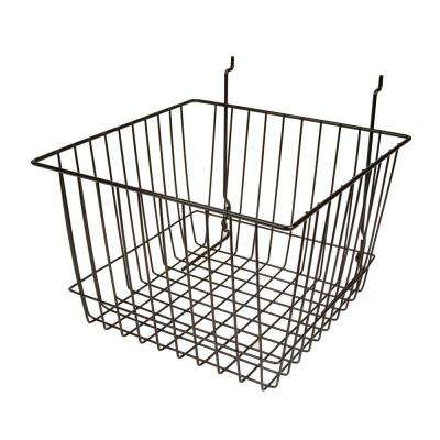 12 in. W x 12 in. D x 8 in. H Black Deep Basket