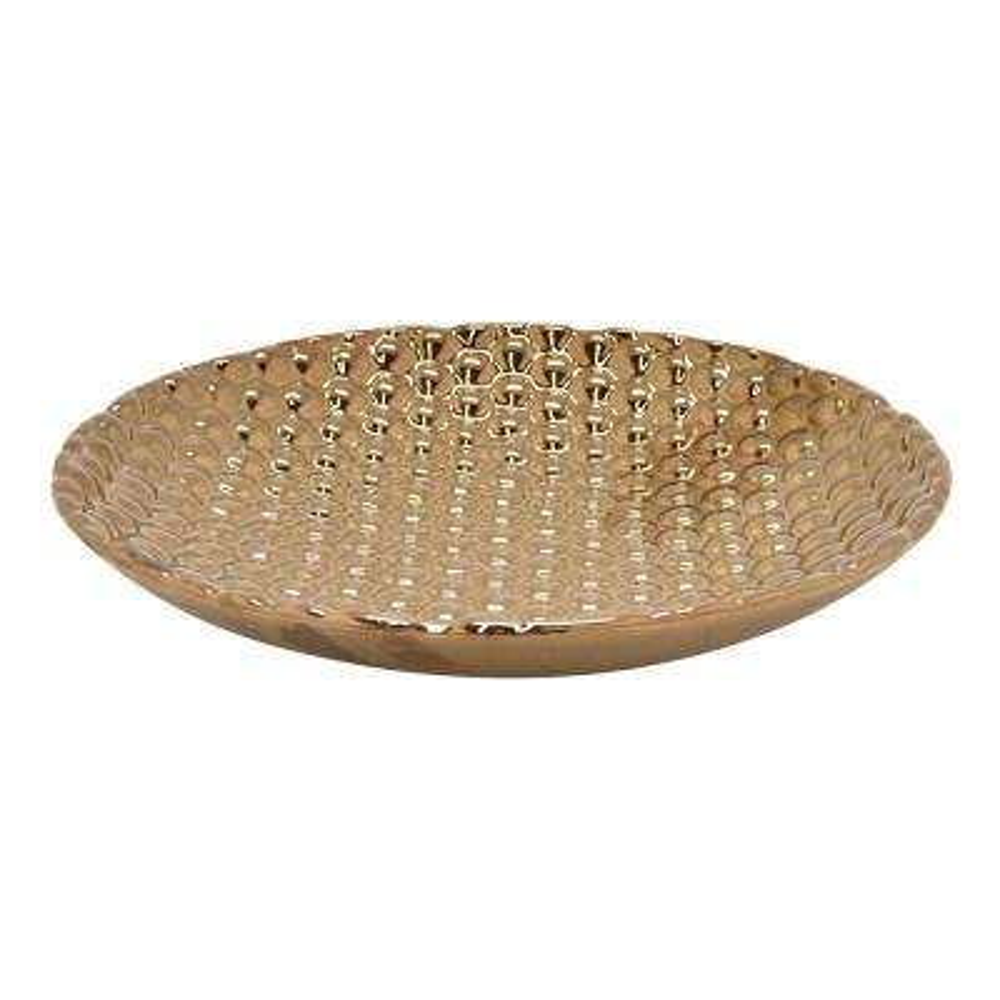 2.5 in. Bronze in Bronze Ceramic Plate
