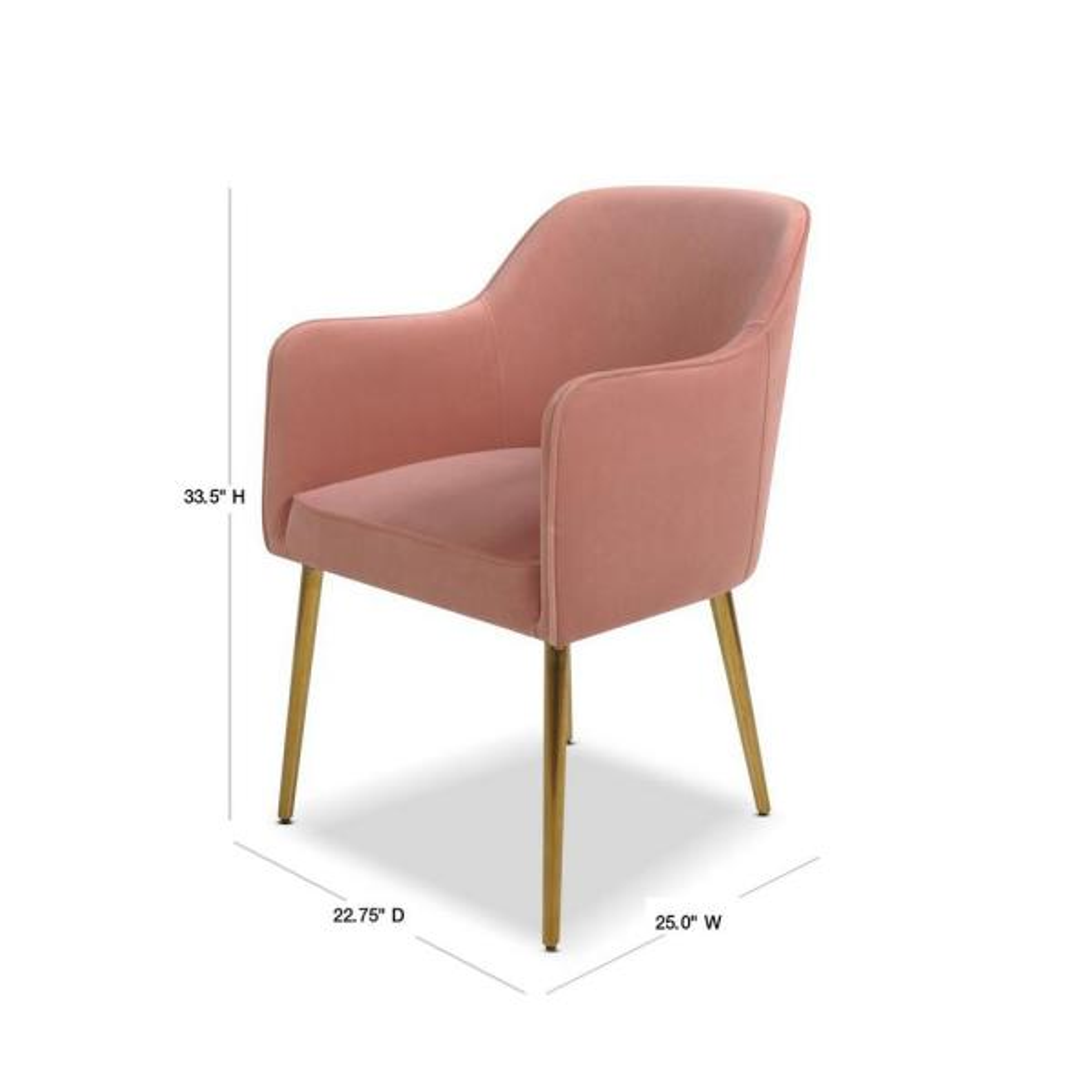 Jennifer Taylor Ivy Blush Pink Mid Century Modern Accent Desk Chair 60300 Mvp The Home Depot