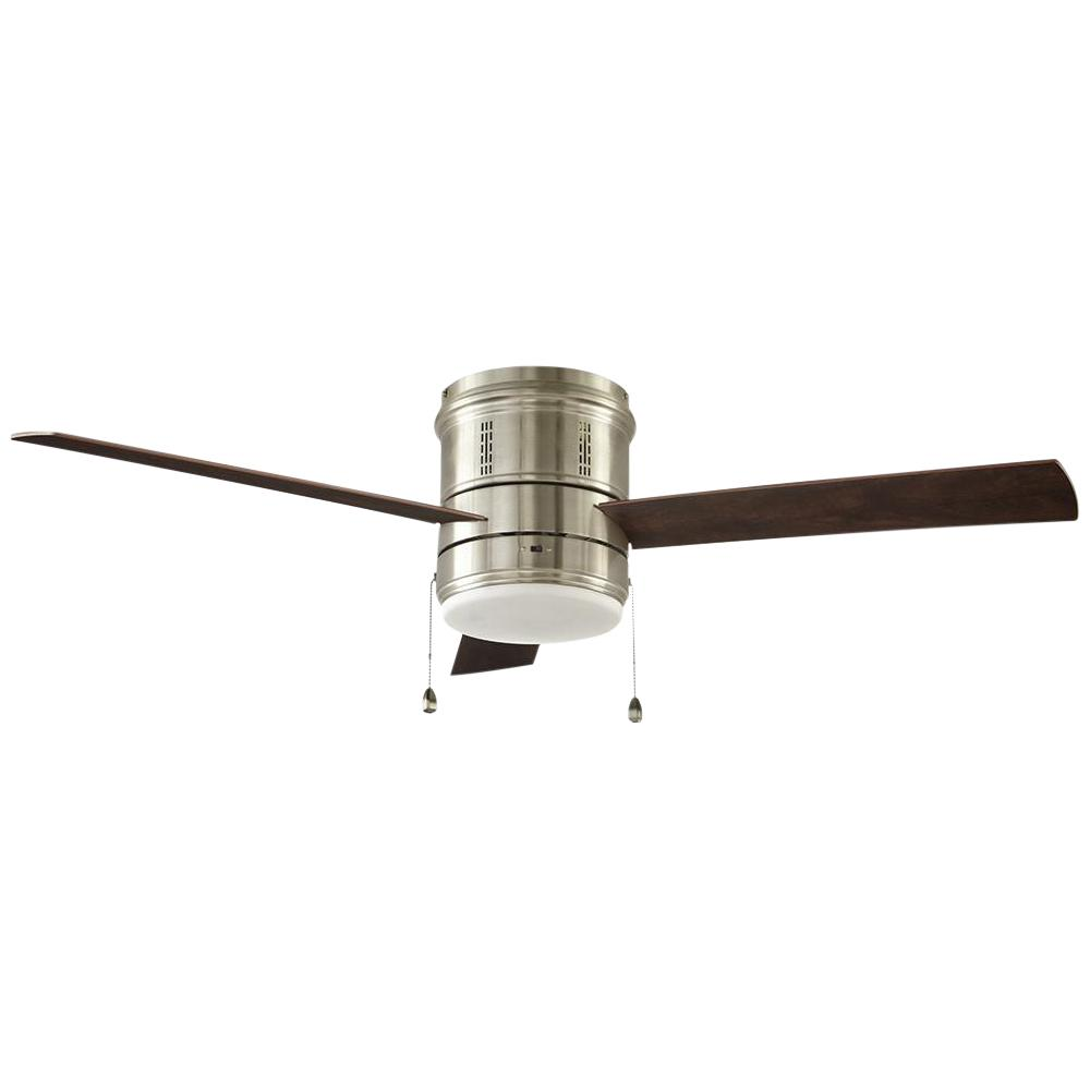 Home Decorators Collection Gamali 52 in. LED Indoor Brushed Nickel Ceiling Fan with Light Kit