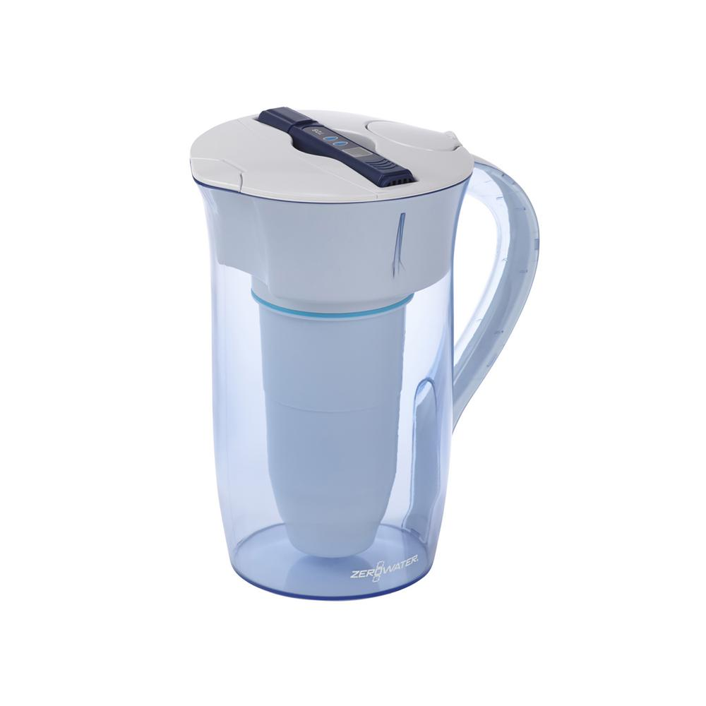 10-Cup Round Water Filter Pitcher in Blue